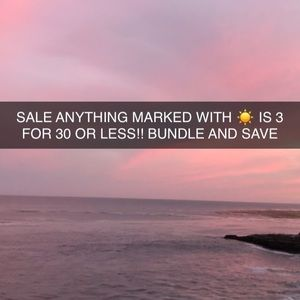 Other - CLOSET SALE 3 FOR 30 OR LESS ITEMS WITH ☀️
